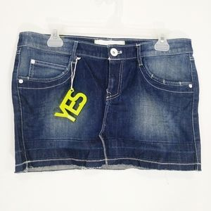 Adidas denim mini skirt size 30 new with tags